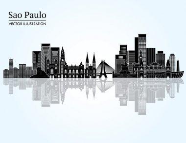 Sao Paulo detailed skyline