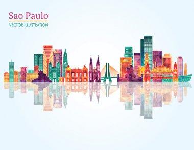 Sao Paulo skyline silhouette