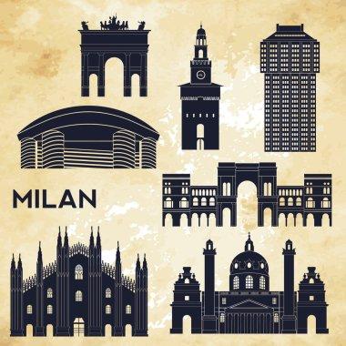 Milan detailed skyline