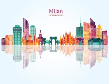 Milan detailed skyline
