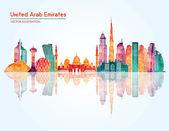 Fotografie Spojené arabské emiráty Panorama silueta