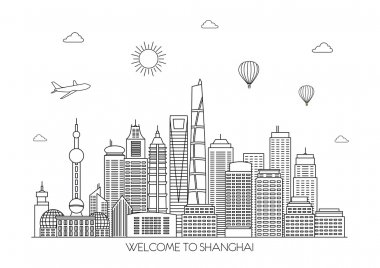 Shanghai skyline background