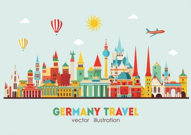 Travel Germany famous landmarks skyline