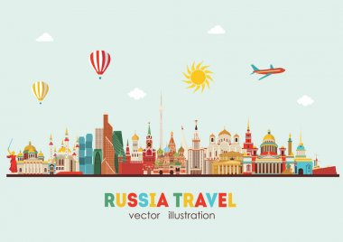 Russia Landmark detailed Travel background