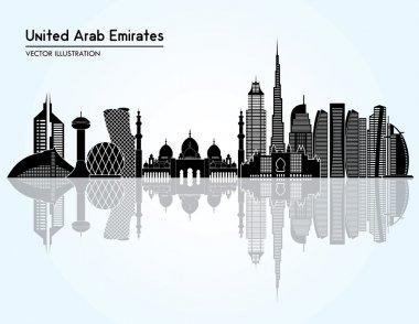 United Arab Emirates skyline silhouette