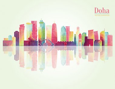Doha detailed skyline