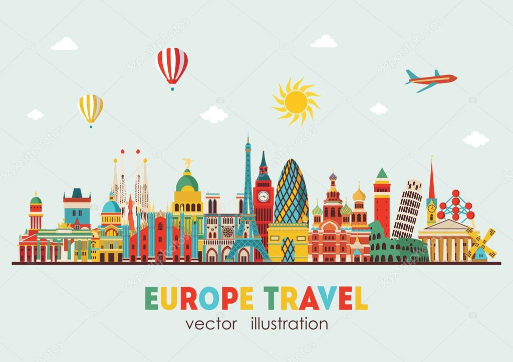 vector illustration of europe - photo #28