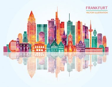 Travel Frankfurt famous landmarks skyline