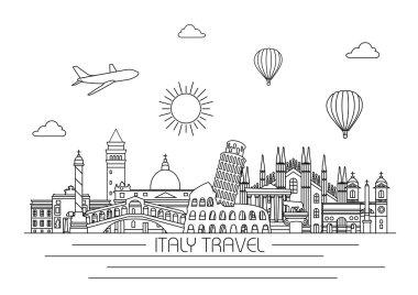 Italy detailed skyline