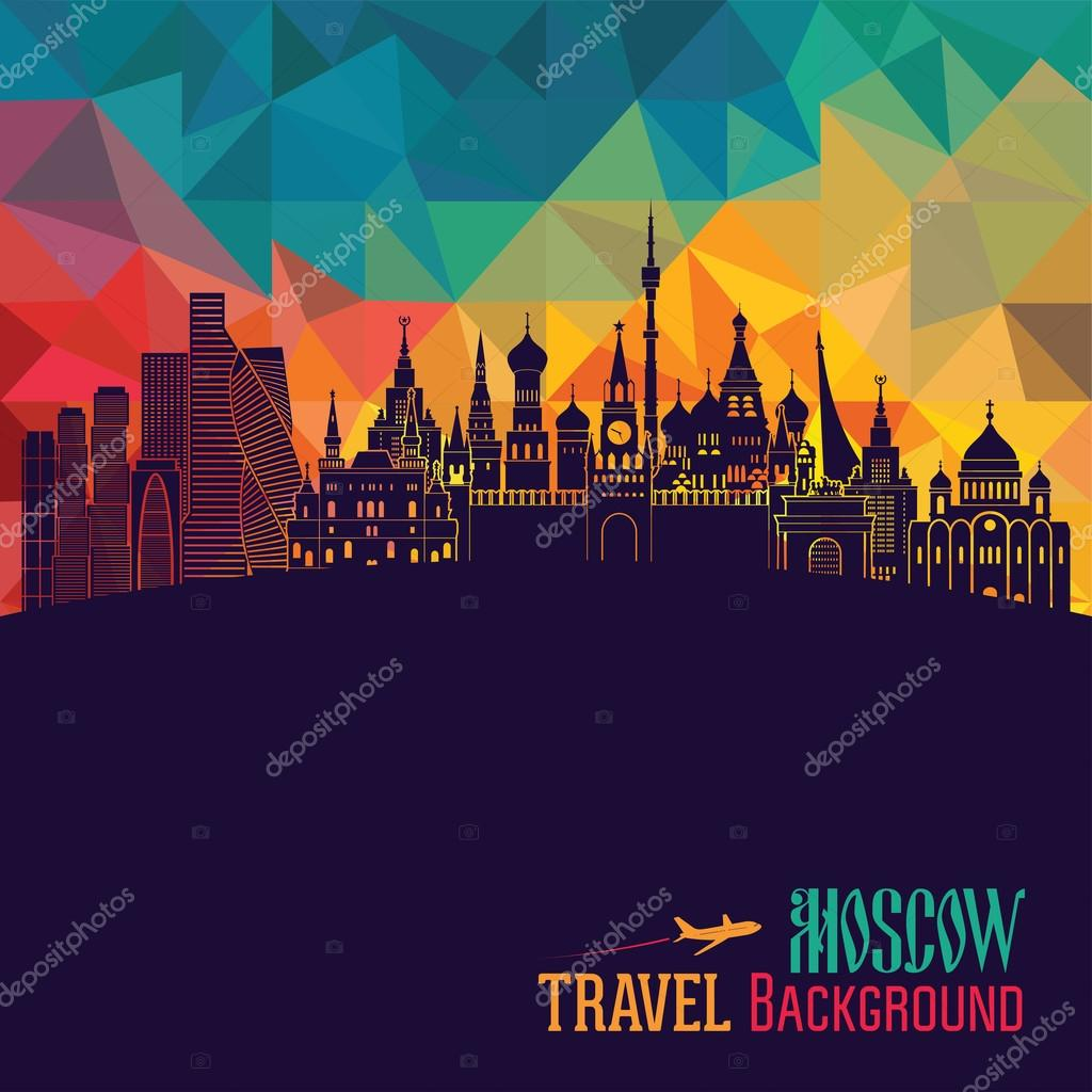 Moscow skyline illustration