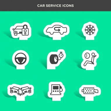 car service and assistance icons