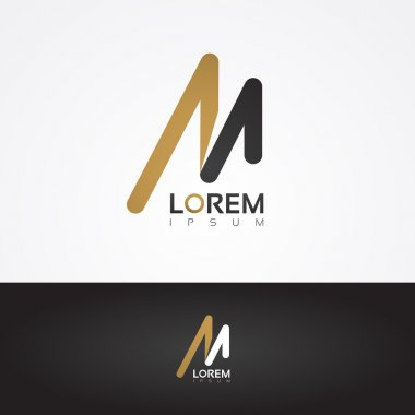 Graphic design element - M letter
