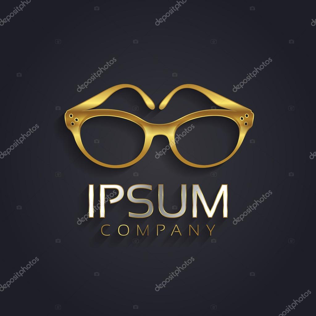 Graphic Elegant Glasses Symbol For Your Company Stock Vector