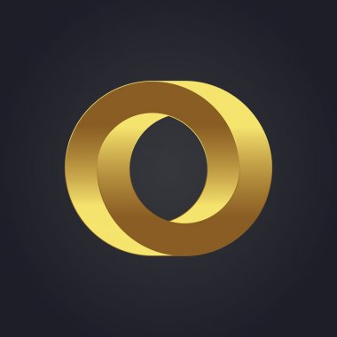 Graphic gold letter O