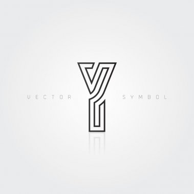 Graphic creative line letter Y