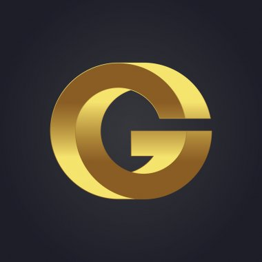 Graphic gold letter G