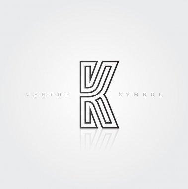 Graphic creative line letter K