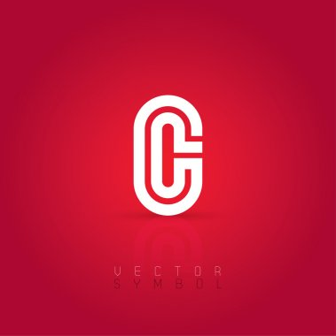 Graphic creative line letter C