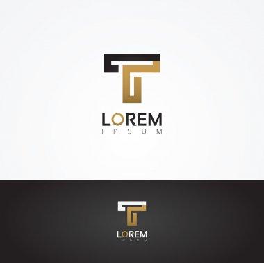 Elegant graphic letter T