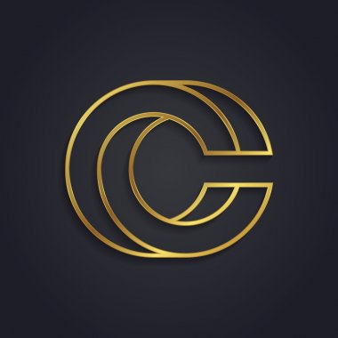 Graphic gold letter C
