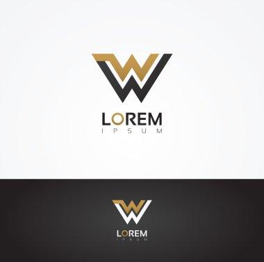 Elegant graphic letter W