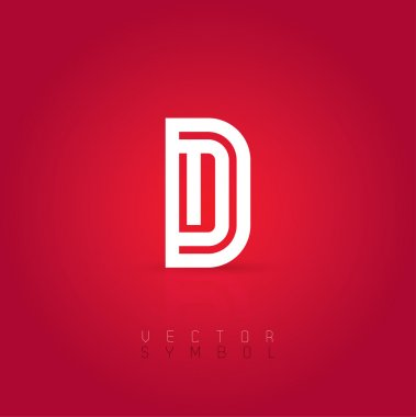 Graphic creative line letter D