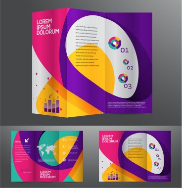 Vector graphic elegant abstract business brochure design with spread pages stock vector