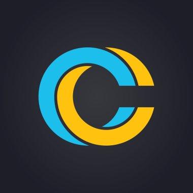 Graphic elegant letter C