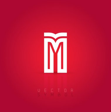 Graphic creative line letter M