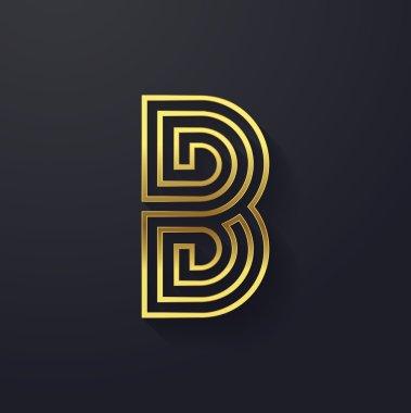 Graphic creative letter B