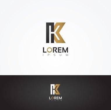 Elegant graphic letter K