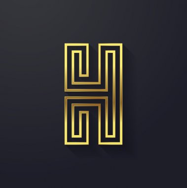 Graphic creative letter H