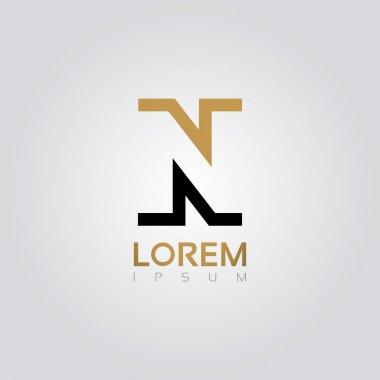 Graphic elegant silhouette letter N