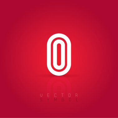 Graphic creative line letter O