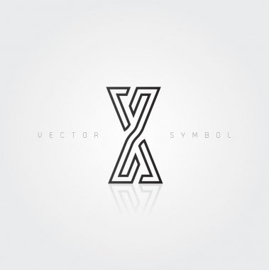 Graphic creative line letter X