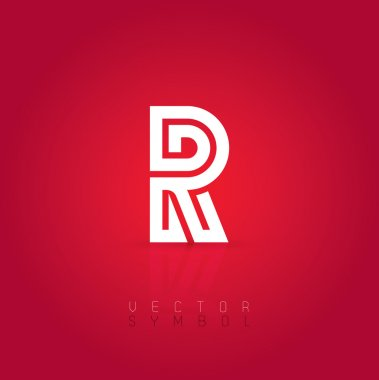 Graphic creative line letter R