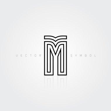 Graphic creative line letter M