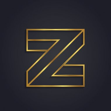 Graphic gold letter Z