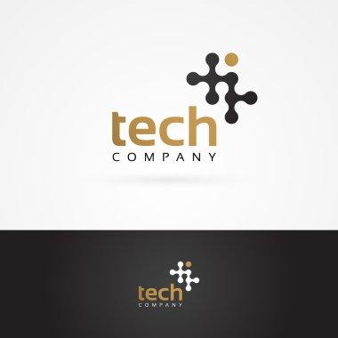 Graphic geometric tech symbol