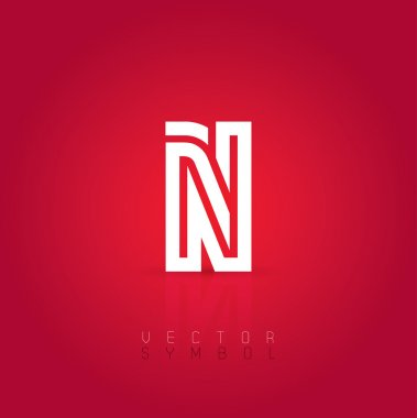 Graphic creative line letter N