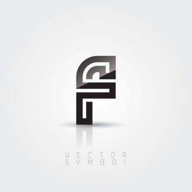 Elegant and creative line letter F