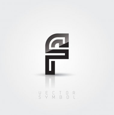 Elegant and creative line letter F