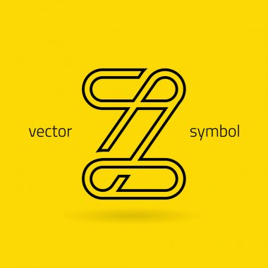 Graphic creative line alphabet symbol Letter Z