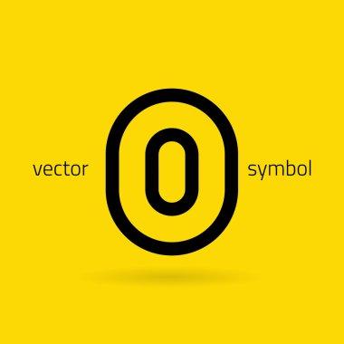 Graphic creative line alphabet symbol Letter O