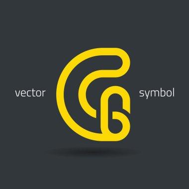 Creative line alphabet symbol  Letter G