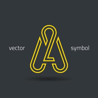 Creative line alphabet symbol  Letter A
