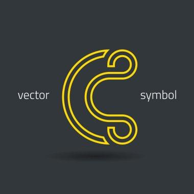 Creative line alphabet symbol  Letter C