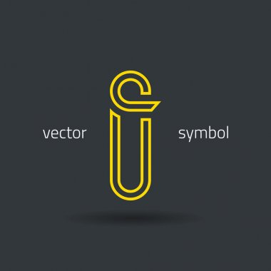 Creative line alphabet symbol  Letter I
