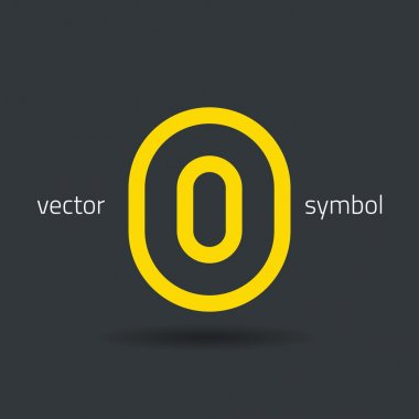 Creative line alphabet symbol  Letter O