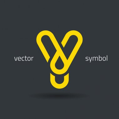 Creative line alphabet symbol  Letter Y